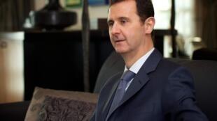 Le président Bachar el-Assad, le 26 janvier 2015. Certains responsables européens disent maintenant en privé qu'il est temps de parler avec Damas.