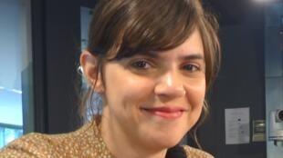 La escritora mexicana Valeria Luiselli en los estudios de RFI.