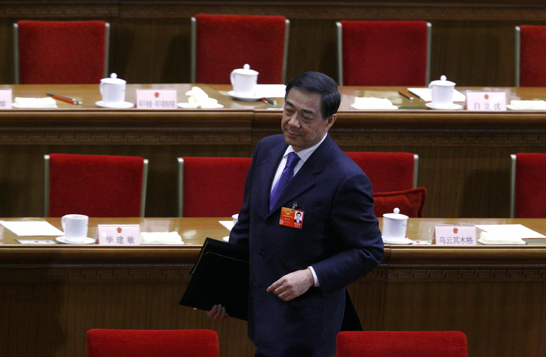 Ông Bạc Hy Lai, Bí thư thành ủy Trùng Khánh trong Đại hội Đại biểu Nhân dân Toàn quốc tại Bắc Kinh ngày 09/03/2012.