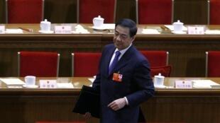 Bo Xilai, chef du Parti communiste de Chongqing,au cours de la troisième réunion plénière de l'APN, à Pékin le 9 mars 2012.