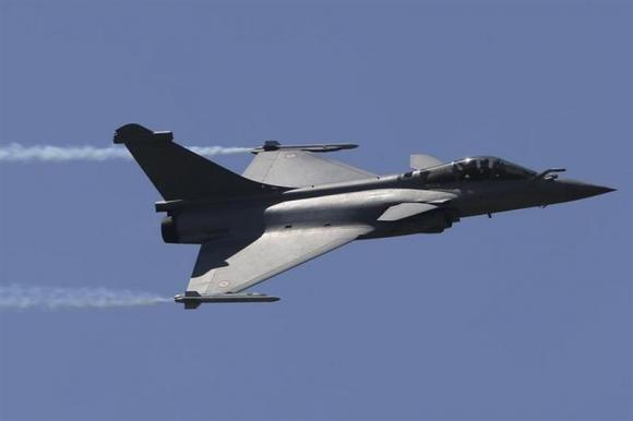 A Dassault Rafale fighter aircraft