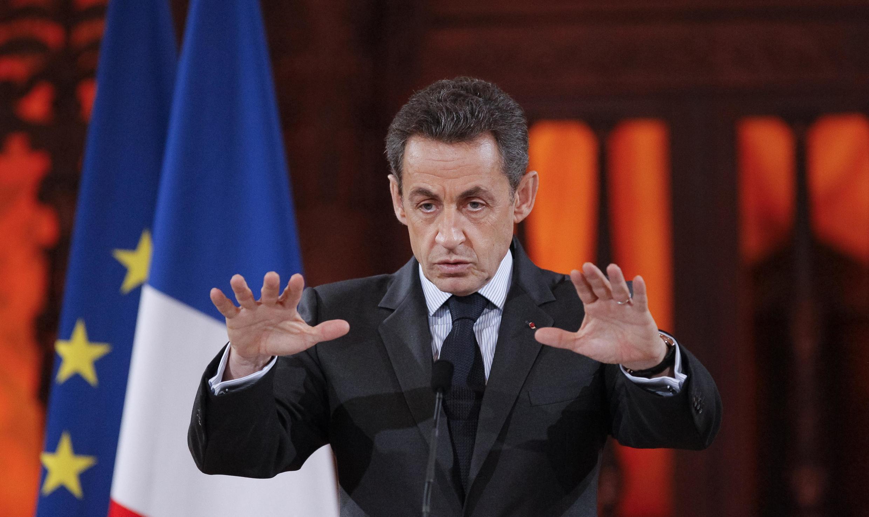 Президент Франции Николя Саркози,  26 января 2012.