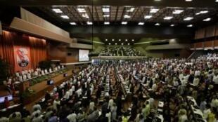 Đại hội Đảng Cộng sản Cuba, ảnh chụp trong phiên họp khai mạc ngày 16/4/11.