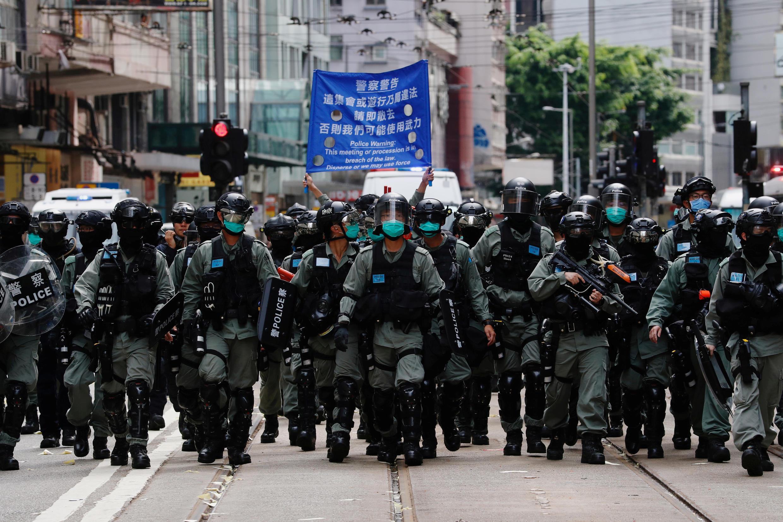 Manifestação contra a nova lei de segurança nacional chinesa em Hong Kong foi duramente reprimida na quarta-feira (1° de julho)
