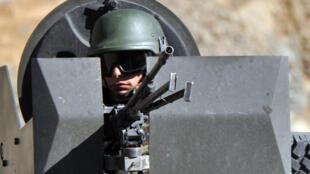 Soldat turc posté non loin de la frontière irako-turque (image d'illustration).