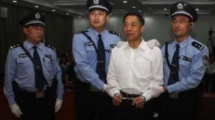 Cựu bí thư thnàh ủy Trùng Khánh Bạc Hy Lai ngồi tù về tội tham nhũng. Ảnh ngàyr 22/09/ 2013,