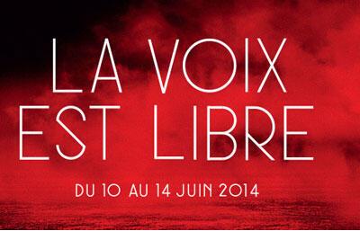 Affiche du Festival «La voix est libre».