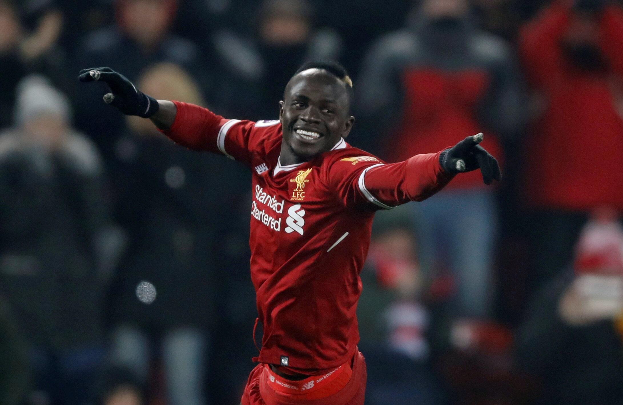 La joie de l'international sénégalais Sadio Mané après son but face à Newcastle United, le 3 mars 2018.