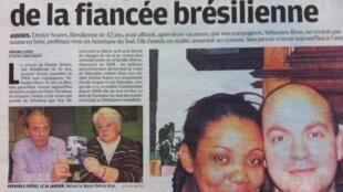 O jornal francês Le Parisien traz matéria sobre o crime cometido em 2004.