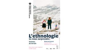 Affiche «Ethnologie va vous surprendre!» 2019.