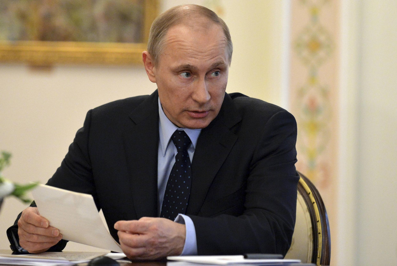 Владимир Путин в Ново-Огарево 05/03/2014