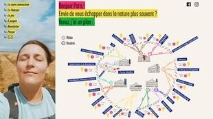 Website screen grab - Randonée autour de Paris