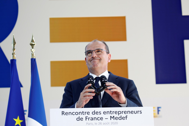 Le Premier ministre Jean Castex doit détailler ce jeudi 3 septembre 2020 un nouveau plan de relance. Ici, au forum d'été du Medef, le 26 août 2020.
