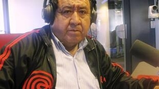 """Andrés """"Chimango"""" Lares en nuestros estudios."""