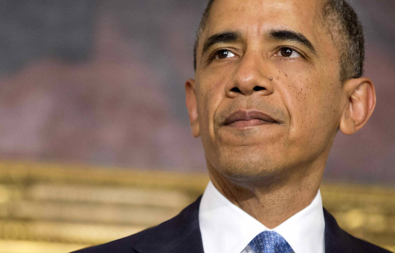 Tổng thống Mỹ Barack Obama nhân cuộc họp báo về thỏa thuận hạt nhân Iran ngày 23/11/2013.