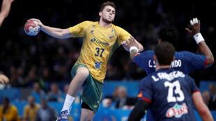Haniel Langaro, um dos destaques da seleção brasileira no Mundial disputado na França.