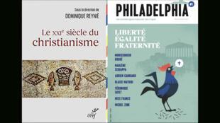 Montage - couvertures xxie siecle christianisme _ Dominique Reynié - Revue Philadelphia - Religions du monde