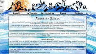 Capture d'écran du site «Tournée des Refuges».