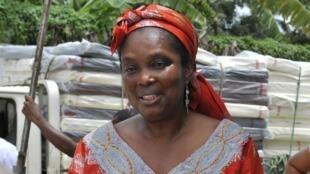 Bernice Dahn, vice-ministra da Saúde da Libéria, durante participação em uma cerimônia de abertura de um centro de tratamento contra o Ebola, em Monrovia, no dia 21 de setembro de 2014.