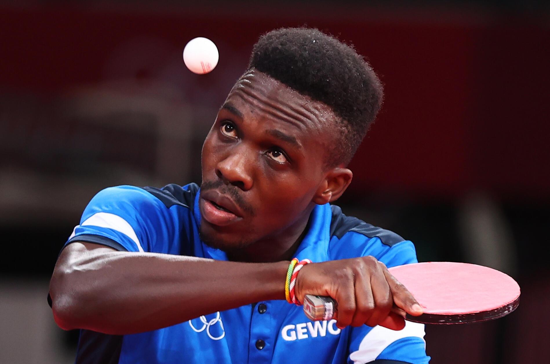 Le pongiste togolais Kokou Dodji Fanny lors des Jeux olympiques de Tokyo 2021.
