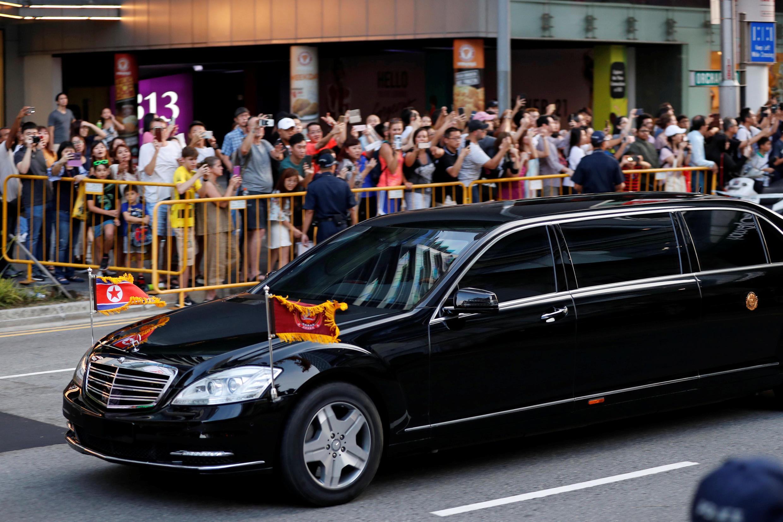 2018年6月10日,朝鮮領導人金正恩抵達在新加坡下榻的旅館,準備參加6月12日舉行的美朝峰會。
