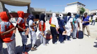 یک مرکز جمع آوری مهاجران غیرقانونی در طرابلس - لیبی