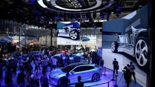 Présentation de la voiture électrique Zero Concept de Lynk & Co, filiale du Chinois Geely, au salon de l'utomobile à Pékin, le 27 septembre 2020.