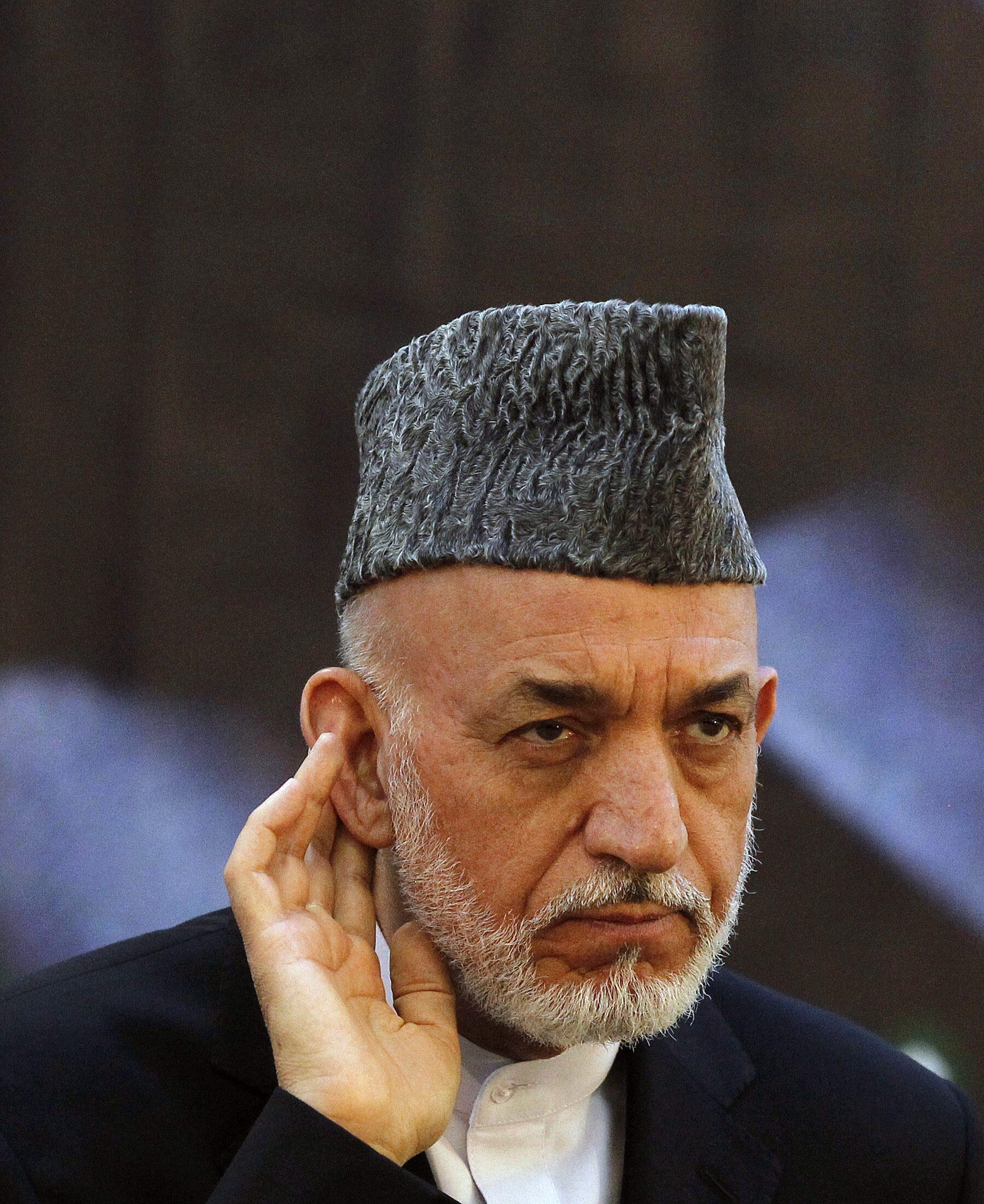 Le président afghan Hamid Karzaï, le 18 juin 2013 à Kaboul.