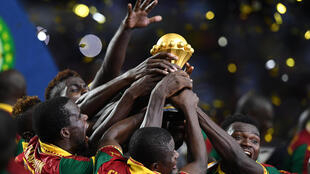 Les Camerounais lors de leur victoire de la CAN 2017.