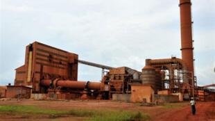 Usine de bauxite située à Kamsar, au nord de Conakry, Guinée.
