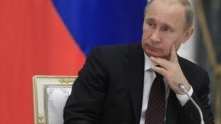 Ông V.Putin trong cuộc họp của Hội đồng tổng thống Nga, Kremlin, Matxcơva, 09/10/2012