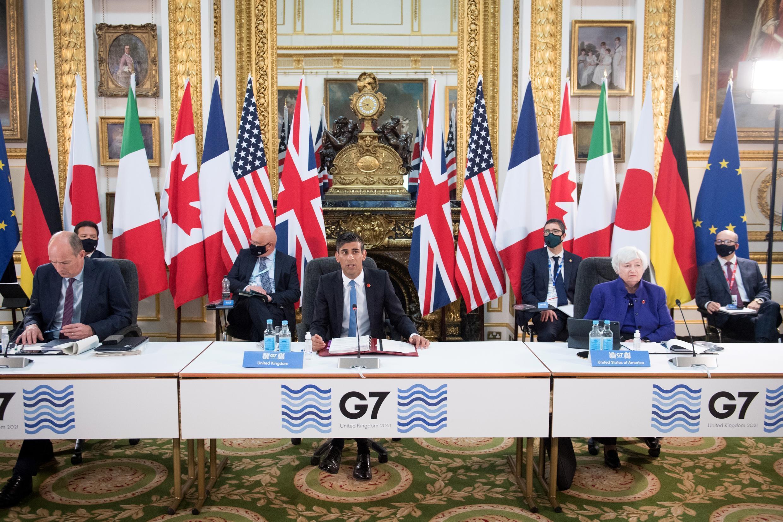 Autoridades financieras del G7 se reúnen desde el 4 de junio de 2021 en Londres para discutir un impuesto corporativo global