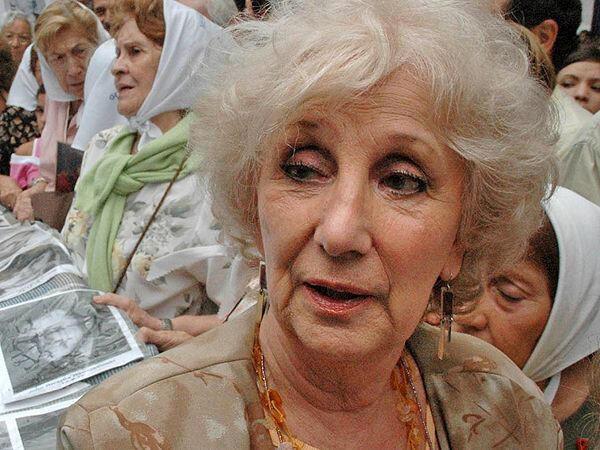 Estela de Carlotto, presidenta de la organización argentina Abuelas de la Plaza de Mayo.