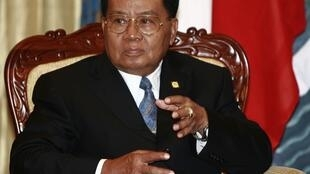 Le général birman Than Shwe.