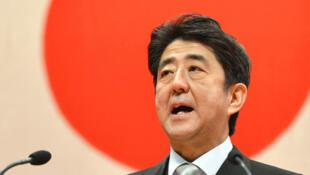 图为日本首相安倍晋三