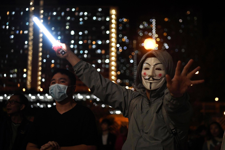 Masu zanga-zangar yankin Hong Kong.