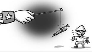 Tranh minh họa bài viết trên Hoàn Cầu Thời báo (25/01/2015)