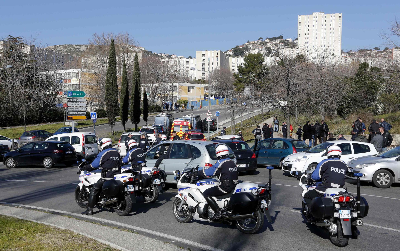 Полиция в Марселе на месте преступления