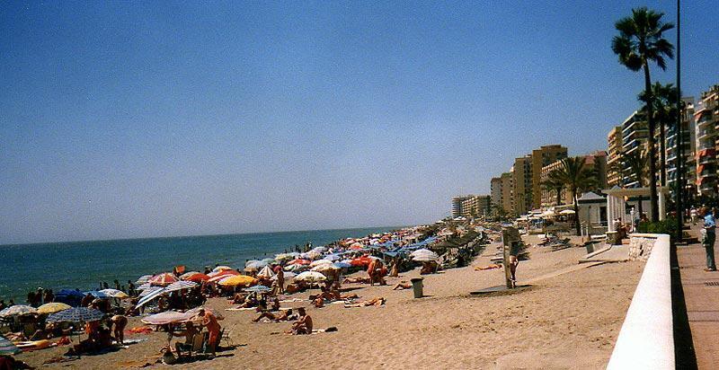 The Fuengirola coast in Spain in 2006.