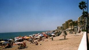 The Fuengirola coast in Spain in 2006.