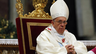 Pope Francis at Saint Peter's Basilica at the Vatican, 1 January, 2014