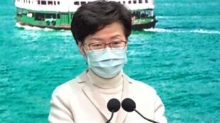 香港特首林鄭月娥資料圖片