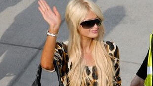 Paris Hilton at Lanseria airport, Johannesburg, South Africa on 8 July