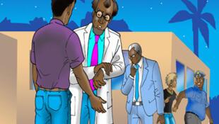 Kwame akiwa na Profesa Omar mara baada ya kumuokoa