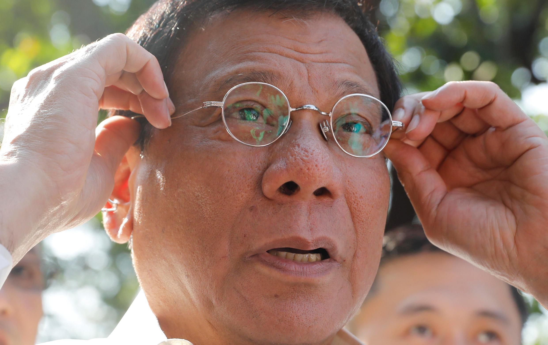 菲律賓總統杜特爾特2017年4月28日馬尼拉