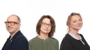 Laurent Berthault, Frédérique Lebel et Catherine Rolland.