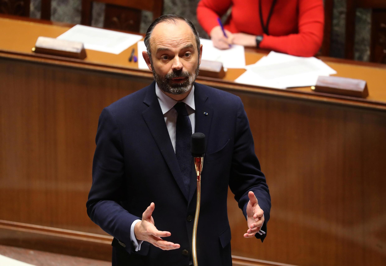 Thủ tướng Pháp Edouard Philippe trình bày tình hình dịch virus corona trước Quốc Hội, Paris, ngày 19/03/2020