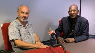 Richard Minier et Boncana Maïga au micro de Joe Farmer.