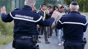 Wasu bakin haure a yankin Calais dake kasar Faransa