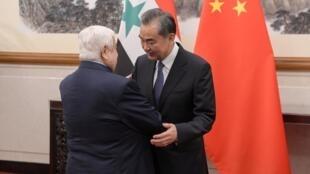 وانگ یی وزیر خارجۀ چین در پکن با همتای سوری خود دیدار داشت